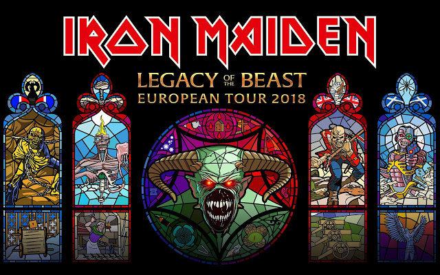 Resultado de imagem para Iron Maiden libera vídeo de sua atual turnê Legacy Of The Beast tour